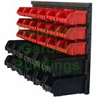 WALL MOUNTED PLASTIC STORAGE BINS & MOUNTING PANEL - SMALL & LARGE TOOL BUCKETS