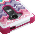 For LG Leon 4G LTE / Tribute 2 - HARD & SOFT RUBBER HYBRID ARMOR SKIN CASE COVER