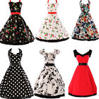 LONDON CHEAP FAST~ NEW RETRO VINTAGE STYLE 50s 60s ROCKABILLY SWING FLORAL DRESS
