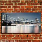 NEW YORK BROOKLYN BRIDGE CANVAS WALL ART BOX PRINT PICTURE SMALL/MEDIUM/LARGE