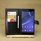 Flip Magnetic Card Wallet PU Leather Case Stand Cover For Sony Xperia T2 Ultra