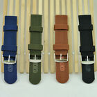FO06 Outdoor Sports Thick MILITARY Army NYLON CANVAS WRIST WATCH BAND STRAP UK06
