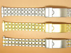 Stainless Steel Two-Tone Gold Plated Watch Strap Bracelet, 12mm 13mm 14mm