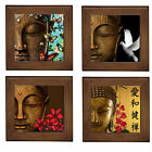 NEW~BUDDHA BUTTERFLY DOVE FLORAL BALI HUT DECOR FRAMED TILE/WALL ART PLAQUE