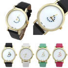 Fashion Casual Watch Girl Heart Turntable Leather Band Analog Quartz Dial Watch