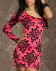 Floral Flower Sexy Womens One Shoulder Evening Prom Party Cocktail Mini Dress