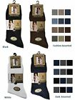 3 Mens Ribbed 100% Cotton Soft Top Elastic Socks / UK 6-11