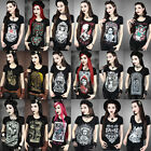 Women's 3D Print Blouse T-Shirts Punk Gothic Style Black Rock Tops T shirt 2015