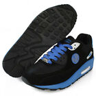 Athletic Shoes Air Heel Running Mens Sports Sneaks PaperPlanes PP1101 Black Blue
