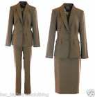 JACQUES VERT PLANET Women Ladies Brown Work Office Skirt Trouser or Suit Jacket