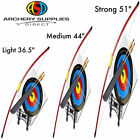 "ASD Archery Red Leisure Recurve Bow Ideal First Bow 36.5, 44, 51"" Light - Strong"