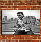 MUHAMMED ALI PUNCH CANVAS WALL POP ART BOX PRINT PICTURE SMALL/MEDIUM/LARGE