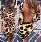 Women Long Sleeve Bandage Bodycon Evening Sexy Party Cocktail Club MINI Dress