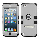 For iPod Touch 6th Gen - Hard & Soft Rubber Hybrid Rugged Armor Impact Case Skin