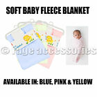 NEW BABY NEWBORN SOFT FLEECE BLANKET SHAWL PRAM COT CRIB MOSES BASKET MATERNITY
