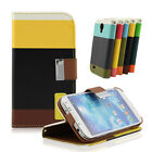 Hybrid Leather Wallet Flip Pouch Stand Case Cover For Samsung Galaxy S4 IV i9500