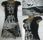 NEW EX MONSOON FUSION CLEARWATER SKATER TEA PARTY DRESS VINTAGE STYLE BLACK 8-16