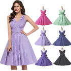 SUMMER~POLKA DOT Vintage 50s 60s Rockabilly Swing Pinup Evening PARTY PROM Dress