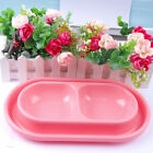 Anti-ant Plastic No-Slip Pet Dog Cat Food and Water Drink Double Bowl with Notch