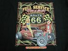 FULL SERVICE RAT ROD GARAGE ROUTE 66 WORK SHIRT DICKIES BUTTON UP GARAGE