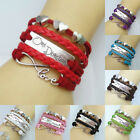 Women's DIY Jewelry Fashion Lots Color Leather Lovely Bracelet For Party Lovers