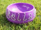 personalised pet bowl, in a choice of colour, with hand attached crystals