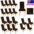 Elegant Dining Chair Cover 1/4/6/8 Pcs Chocolate washable stretch protector NEW
