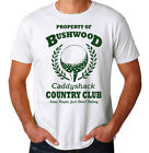 Bushwood Country Club Funny 80's Movie New Mens White Novelty Golf Caddy T-Shirt