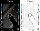 iTwins iPhone Keypad Battery Bluetooth typing tool for touchscreen mobile device