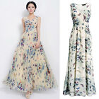 Valuable Summer Women Butterfly Maxi Long Dress Chiffon Boho Beach Dresses FOUK