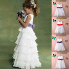 Hot Flower Girls Princess Dress Party Pageant Wedding Bridesmaid Tutu Dresses