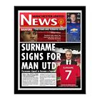 Personalised Manchester Man United FC Football Newspaper Gift Idea for Fans