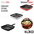 STONECHEF CERAMIC STONE COATED GRILL FRY PAN NON-STICK COOKWARE ALUMINIUM ALLOY