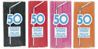 WICKED PLASTIC PARTY STRAWS - 50, 100 & 150 Packs in 4 AWESOME PARTY COLOURS …