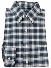 Ralph Lauren Mens Button Down Shirt Custom Fit Oxford Long Sleeve Navy White