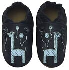Baby Boys/Girls Shoes Toddler Navy Rose et Chocolat Happy Giraffe Real Leather