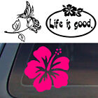 Hibiscus Butterfly Rose Flower Floral Sticker Decal Car Truc