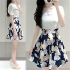 Fashion Womens Sweet Elegant Summer Chiffon Floral Short Sleeve Slim Mini Dress
