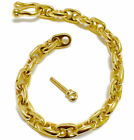GAT HAWAIIAN Men Anchor Chain Bracelet ~ Gold Nautical Bracele HAND MADE JEWELRY