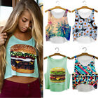 Pop Women Girls Summer Vest Tank Tops Digital 3D Print Emoji Blouse T Shirt UKFO