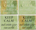 +++ KEEP CALM and create your own world - TEXTIL MOUSEPAD Mauspad - EEP 01