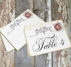 DOUBLE or SINGLE SIDED BRITISH LONDON POSTCARD WEDDING TABLE CARDS or SIGNS #373
