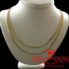 Men's Ladies New 10k Solid Yellow Gold Heavy 1.5mm Franco Box Chain Necklace