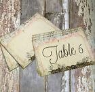 LARGE DOUBLE or SINGLE SIDED SHABBY CHIC WEDDING TABLE CARDS or SIGN #692