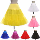 50's Petticoat Black Red White Retro Vintage Swing Skirt Plus Size