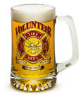 VOLUNTEER FIRE DEPARTMENT TRIBUTE- 25 OZ  LARGE TANKARD BEER GLASS