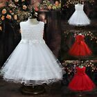 Flower Girl Princess Pageant Dress Wedding Bridesmaid Party Communion Tutu Dress