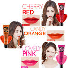Lip Tint Chubby Jelly Pack 15g Non Stain Stick Tatoo Red Orange Pink Secret Kiss