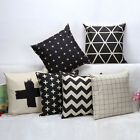 Waves Style Grid Check Throw Pillow Case Home Decoration Cushion Cover Square