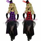 Burlesque Can Can Fancy Dress Costume Moulin Rouge Plus Size 8-18 Outfit Ladies